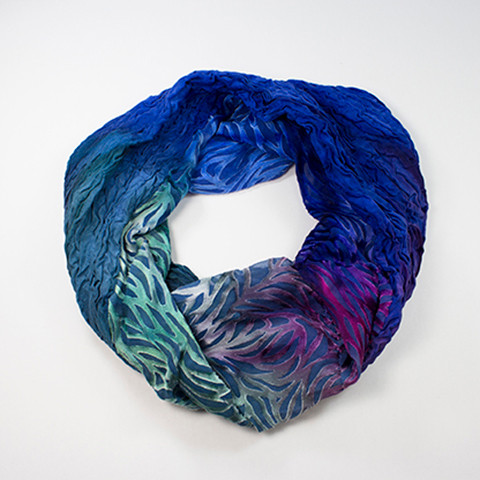 Ombre Dyed Silk/Rayon Cowl