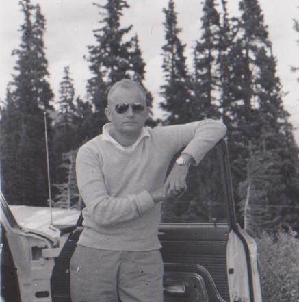 My father posing for a picture, age 34.