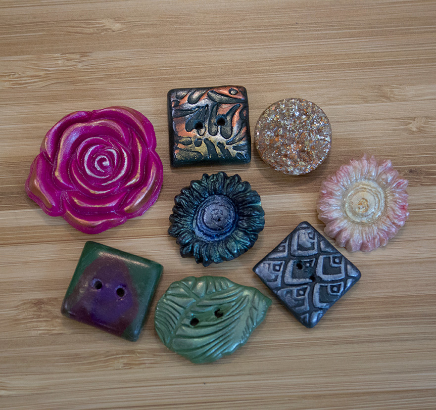 Nicely made polymer clay buttons.