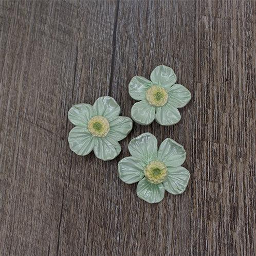 Aqua Spring Blossom Buttons