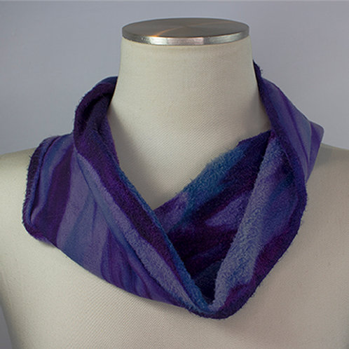 Purple/Black Fleece Cowl