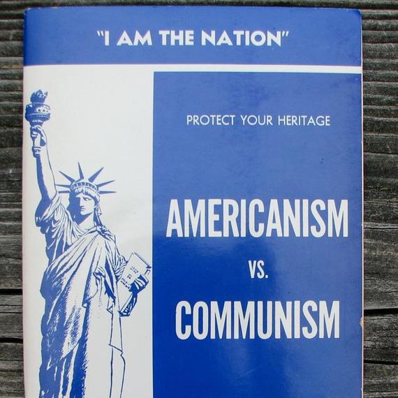 Americanism vs Communism Pamphlet