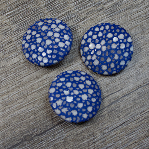 Blue Dot Leather Covered buttons L45