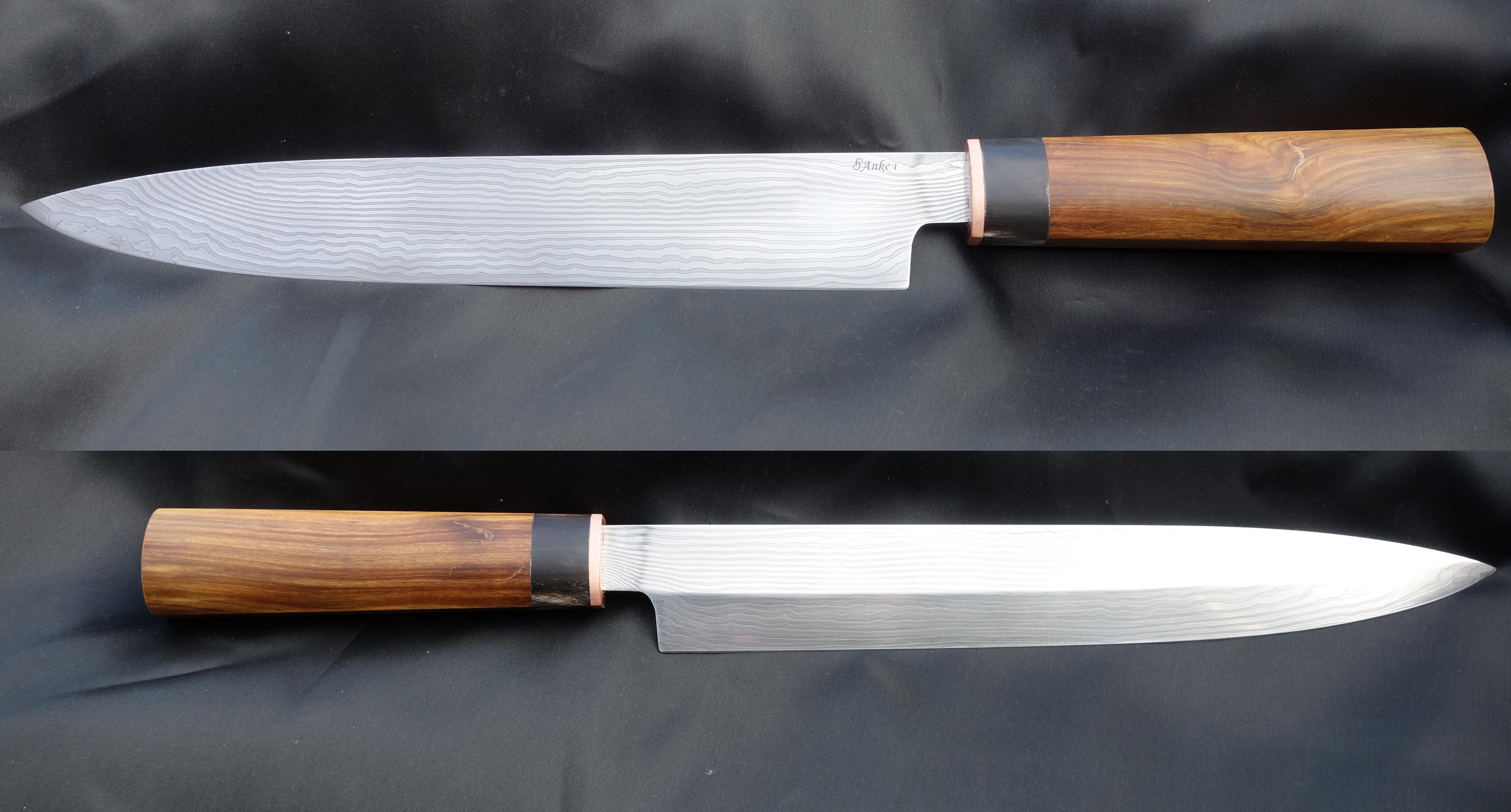 Couteau sashimi bois de fer