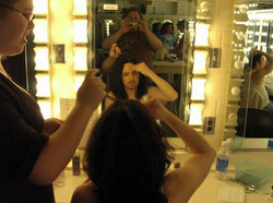 Getting my hair done