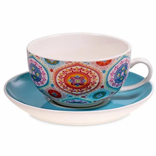 tea for one theepot plus tas mandala blauw