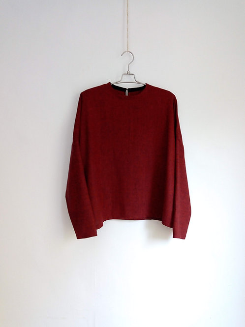 Red melange sweater