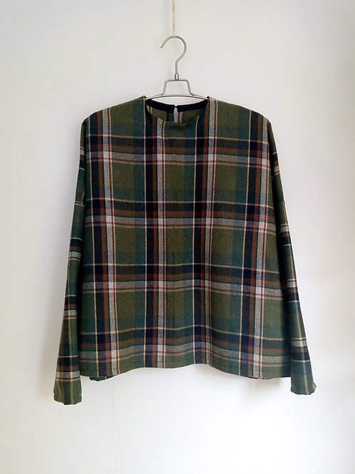 Green check sweater