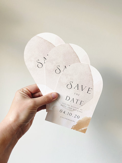Abstract Curved Save the Date - Sample