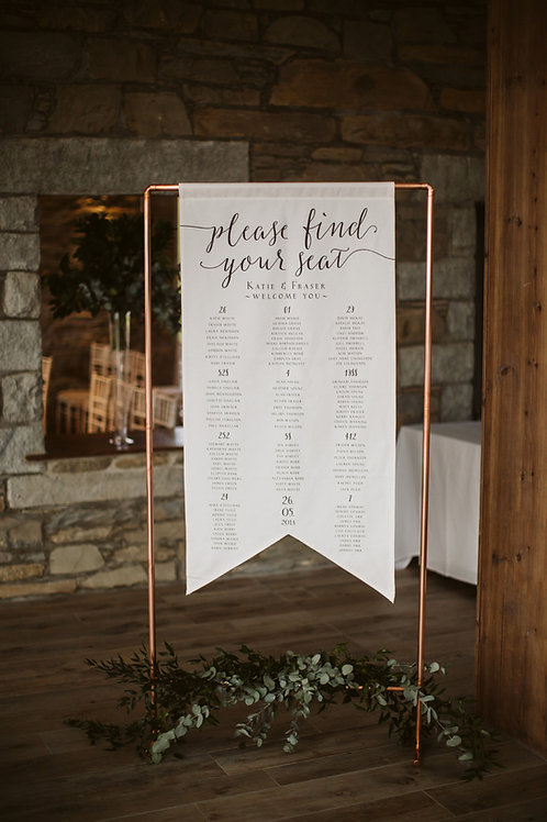 Hanging Table Plan Flag - Waddesdon Collection