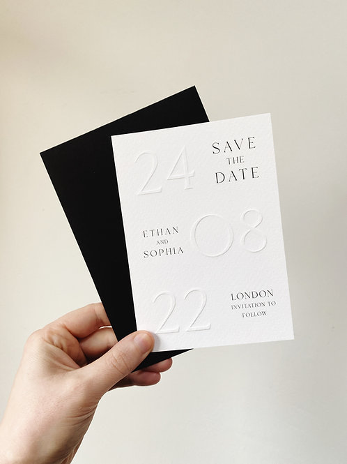 Old Hollywood Embossed Save the Date - Sample
