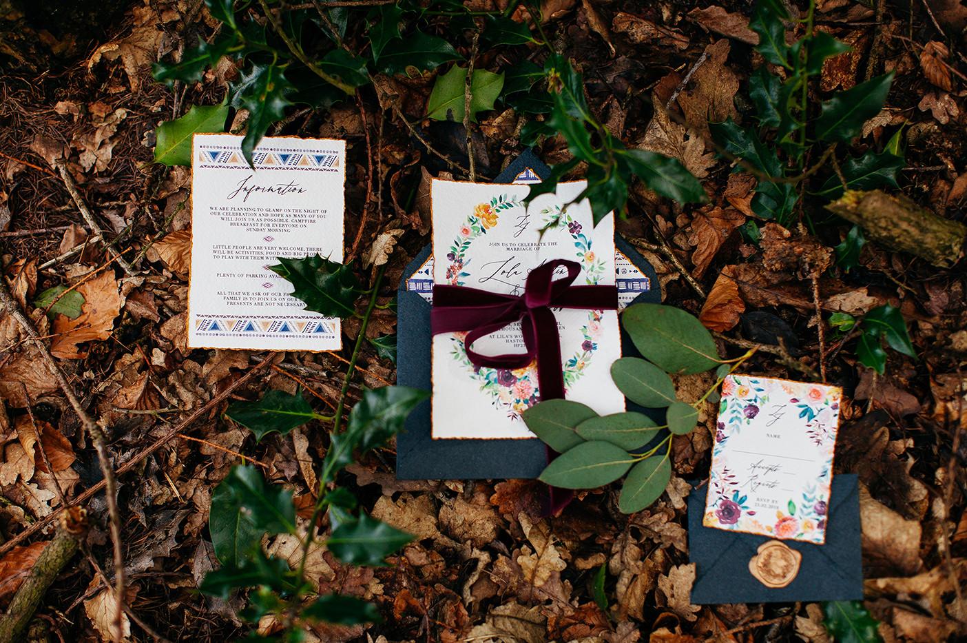 velvet wedding ribbon