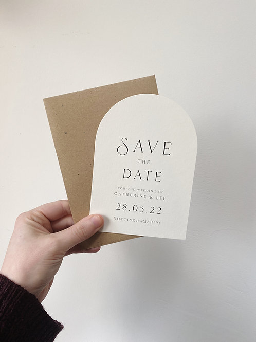 Curved Save the Date - Sample