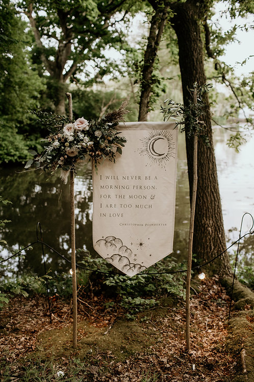 Choose your own wording : Celestial Wedding Banner