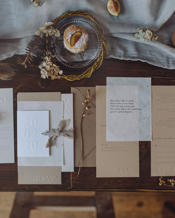 scandi wedding stationery
