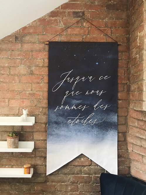 Choose your own wording : Night Sky Wedding Banner