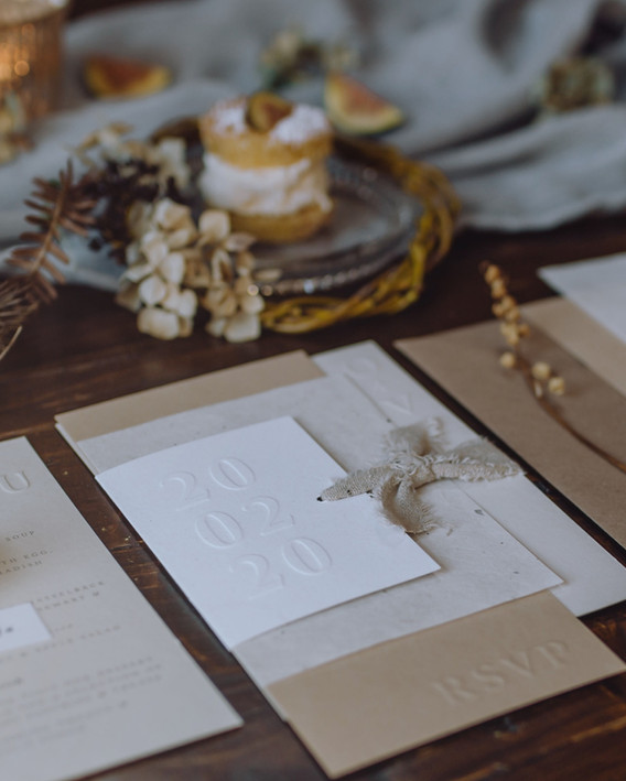 embossed wedding stationery