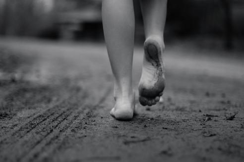 Feet in the dirt