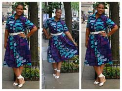 African Print Shirtdress