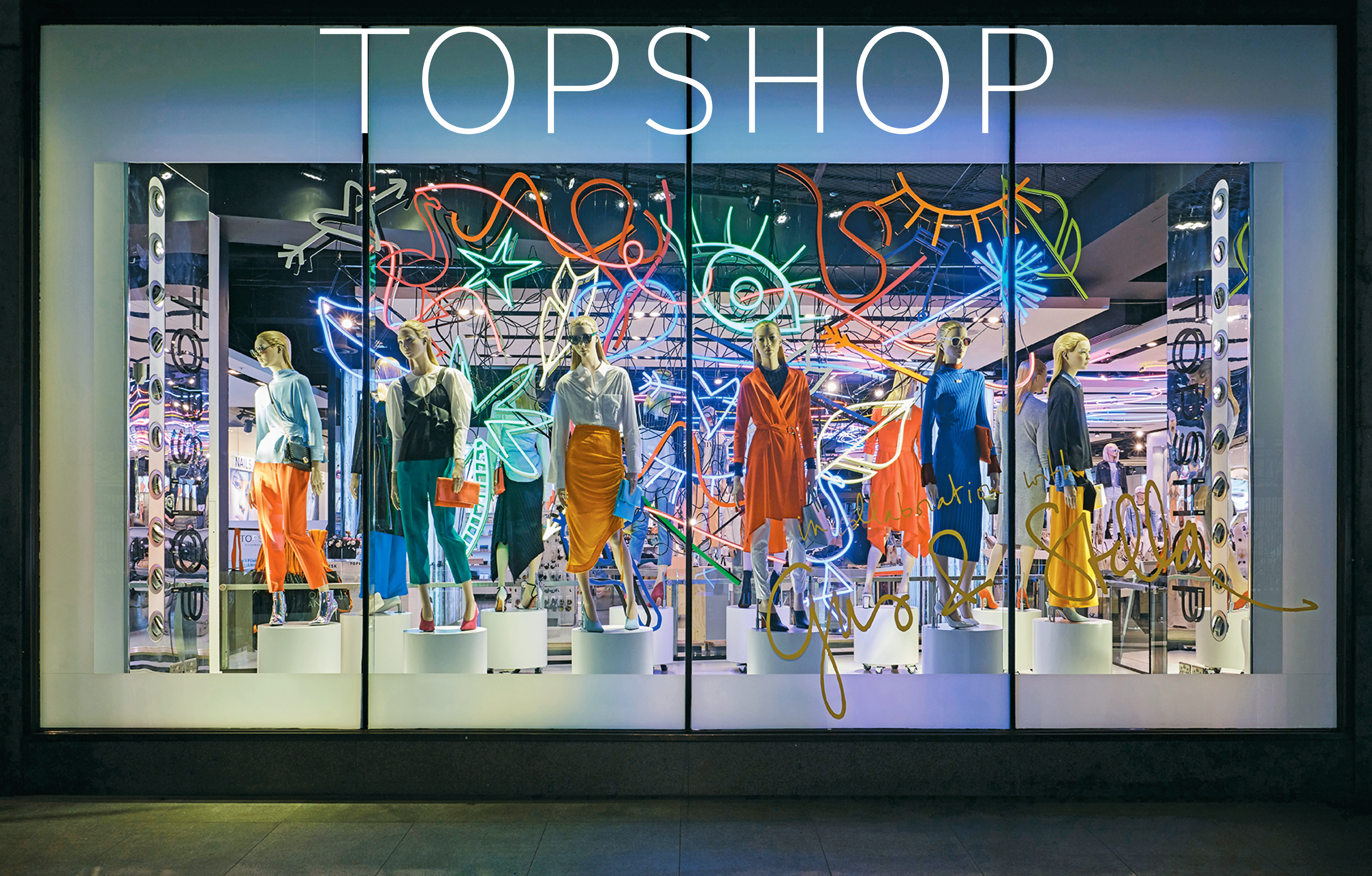 TOPSHOP - Neon Mess Window