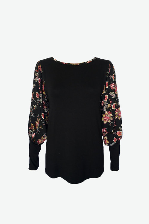 Acorn Floral Banded Puff Sleeve