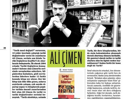 Ali Çimen Sınavizyon Dergisi'ne yazarlık macerasını anlattı.