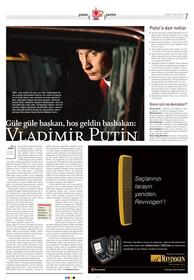 Portre: Güle güle başkan, hoşgeldin Başbakan Putin.