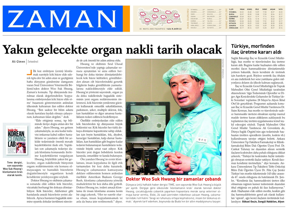"""Dr. Hwang: """"Yakın gelecekte organ nakli tarih olacak."""""""