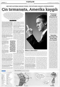 """Röportaj - ABD eski Savunma Bakanı William S. Cohen: """"Çin tırmanışta ABD kaygılı."""""""