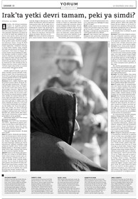 Yorum röportaj: Irak'ta yetki devri tamam peki ya simdi?