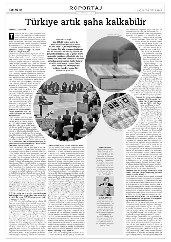 """Yorum röportaj: """"Türkiye artık şaha kalkabilir."""""""