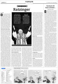 Portre: Papa Ratzinger.