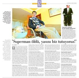 """Türkiye Sakatlar Federasyonu Dış İlişkiler Temsilcisi Adem Saykın: """"Süperman öldü yasını biz tutuyoruz."""""""