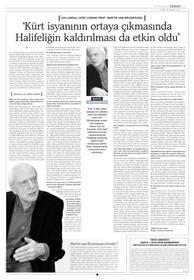 """Röportaj - Martin van Bruinessen: """"Kürt isyanının çıkmasında halifeliğin kaldırılması da etkili oldu."""""""