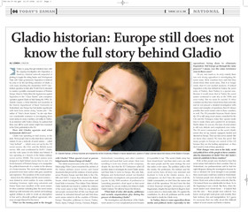 """Interview - Daniel Ganser: """"Europe still does not know the full story behind Gladio."""""""