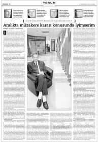 "Röportaj - AB Komisyonu Ankara Temsilcisi Hans Kretschmer: ""Aralıkta müzakere konusunda iyimserim."""