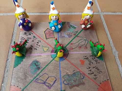 tres en raya, dragones y princesas