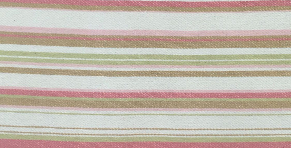 Pink Green Railroaded Stripe