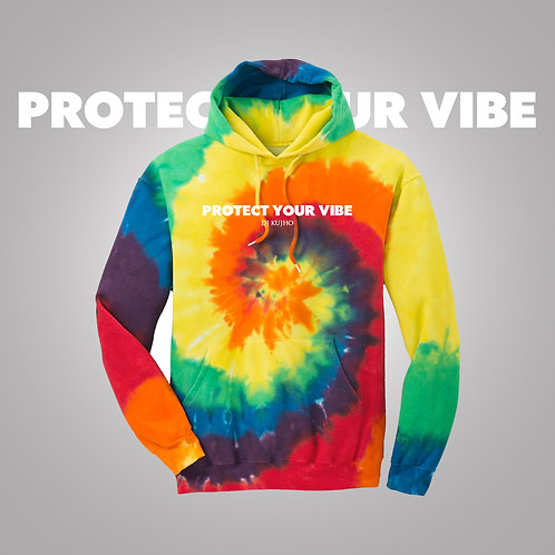 Tie Dye Protect Your Vibe Hoodie