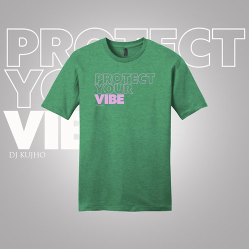 Green Big Font Protect Your Vibe Premium Tee
