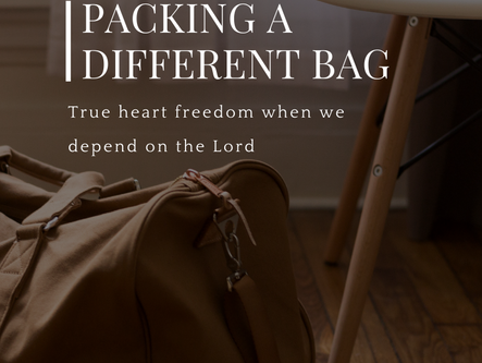 Packing a Different Bag