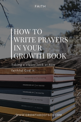 How to Write Prayers in Your Growth Book