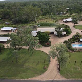 Aerial Shot of Rubyvale Motel