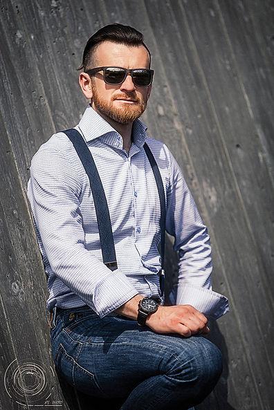 outside man portrait with beard