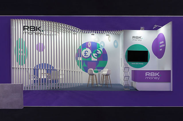 RVrbkMoney - photography of stand from Excel exhibition centre