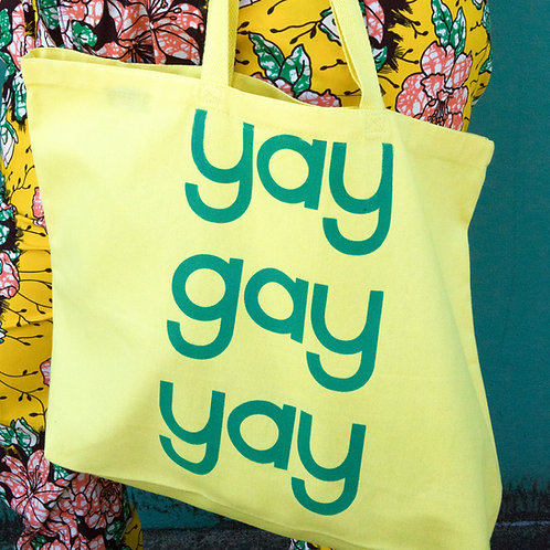 Yay Gay Yay Tote by Jonathan Hanisits