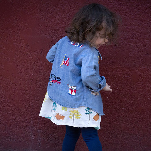 Kids 70's Chambray Button Up
