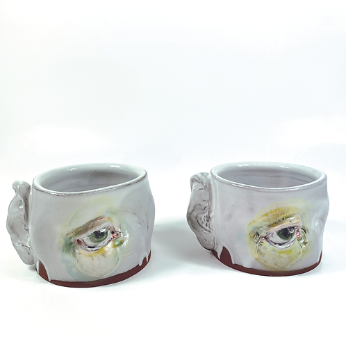 Eye See and Hear You Mug by The Wright Clay