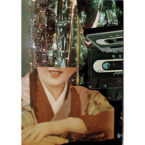 """Mixtape"" Handmade Original Collage by Lara Rouse"