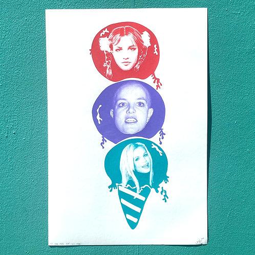 """Pop Star Goes Pop! Mini Scoop"" 16x20 by Jonathan Hanisits"